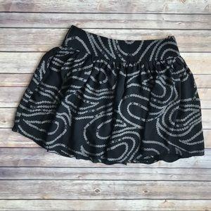 Banana Republic Silk Patterned Skirt